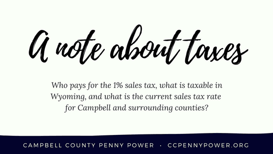 A note about taxes