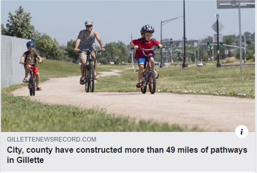 Article: Like to bike around Campbell County, Wyoming? Thank the 1%