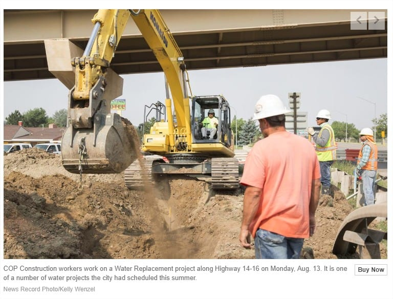 Article: 1 Percent helps pay for water infrastructure