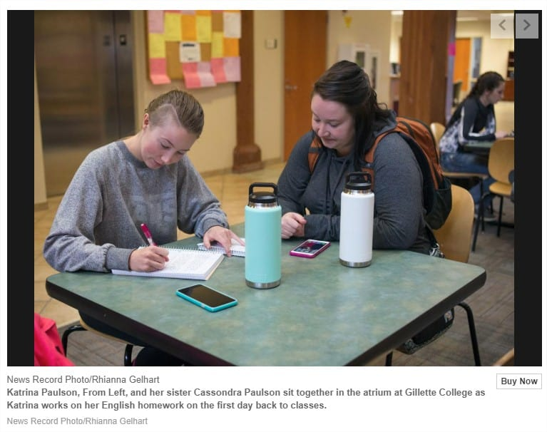 Article: Gillette College has received more than m from city and county in 1 percent money
